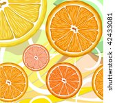 vector illustration with orange ... | Shutterstock .eps vector #42433081