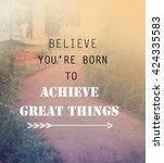inspirational quote  ... | Shutterstock . vector #424335583