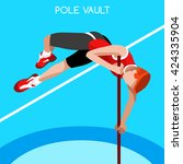 athletics pole vault sportsman... | Shutterstock .eps vector #424335904