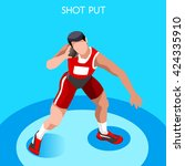 athletics shot put core thrower ... | Shutterstock .eps vector #424335910