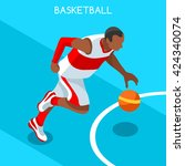 basketball attack player... | Shutterstock .eps vector #424340074