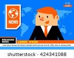 vector illustration anchorman... | Shutterstock .eps vector #424341088