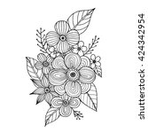 coloring page with doodle...   Shutterstock .eps vector #424342954