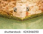 detail of a channel in venice ... | Shutterstock . vector #424346050