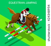 Equestrian Jumping Athletes...