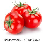 Tasty Tomatoes Isolated On The...