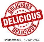 delicious. stamp | Shutterstock .eps vector #424349968