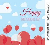 poland independence day flat...   Shutterstock .eps vector #424350130