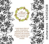 vintage delicate invitation... | Shutterstock .eps vector #424352608