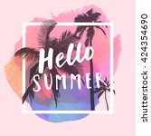 hello summer. modern... | Shutterstock .eps vector #424354690