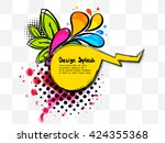 grunge creative image with... | Shutterstock .eps vector #424355368