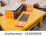 copper busbar. uninterrupted... | Shutterstock . vector #424359058
