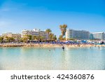 ayia napa  cyprus   april 04 ... | Shutterstock . vector #424360876