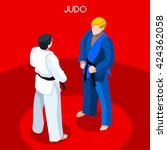 martial arts judo karate fight... | Shutterstock .eps vector #424362058