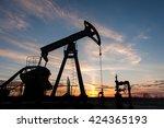 Silhouette Oil Pump Jacks At...