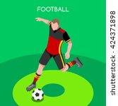 soccer footballer character... | Shutterstock .eps vector #424371898