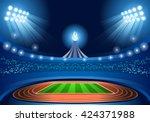 summer games stadium field... | Shutterstock .eps vector #424371988