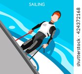 sailing race sportsman games.... | Shutterstock .eps vector #424372168
