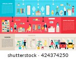 shopping center and boutique... | Shutterstock .eps vector #424374250