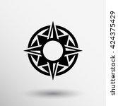 medal and star symbol veteran... | Shutterstock .eps vector #424375429