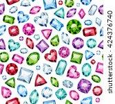 seamless colorful diamond... | Shutterstock .eps vector #424376740