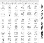 vector startup and development...   Shutterstock .eps vector #424377709