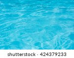 blue pool water background | Shutterstock . vector #424379233