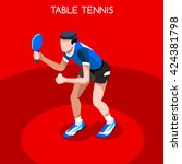 table tennis sportsman games... | Shutterstock .eps vector #424381798