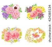 flower set | Shutterstock .eps vector #424385134