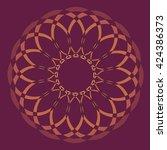 round vector ornament mandala....   Shutterstock .eps vector #424386373