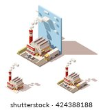 vector isometric icon or... | Shutterstock .eps vector #424388188