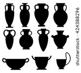 Vector Ancient Greek Vases Set...
