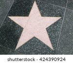 a big star on the ground | Shutterstock . vector #424390924