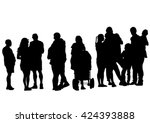 families people with little... | Shutterstock .eps vector #424393888