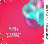 birthday card | Shutterstock . vector #424401286