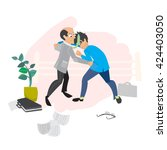 conflicts in business. a... | Shutterstock .eps vector #424403050