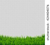 green grass border isolated ... | Shutterstock .eps vector #424404076