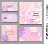 set of artistic colorful... | Shutterstock .eps vector #424408000