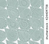 seamless pattern of hand drawn... | Shutterstock .eps vector #424409758