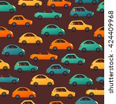 car vector seamless pattern.... | Shutterstock .eps vector #424409968