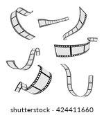 film strip and film reel design ... | Shutterstock .eps vector #424411660