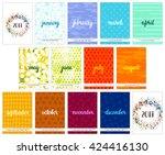 scalable vector calendar for... | Shutterstock .eps vector #424416130