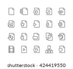 simple set of file related... | Shutterstock .eps vector #424419550
