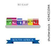Bo Kaap In Cape Town In South...