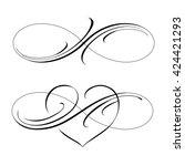 infinity love icon vector... | Shutterstock .eps vector #424421293