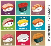 Vintage Sushi Poster Design...