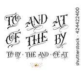 handmade vector calligraphy... | Shutterstock .eps vector #424422400