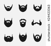 a set of men's beard styles on... | Shutterstock .eps vector #424423363