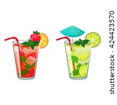 isolated colorful sketch of...   Shutterstock .eps vector #424423570