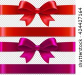 color bows isolated isolated on ... | Shutterstock .eps vector #424427164